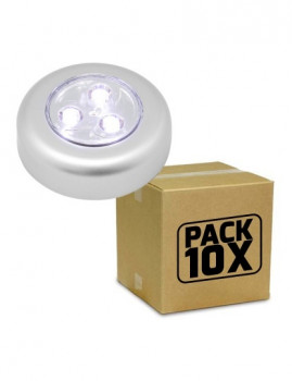 Pack 10X Mini Lâmpada Led Push Controlo