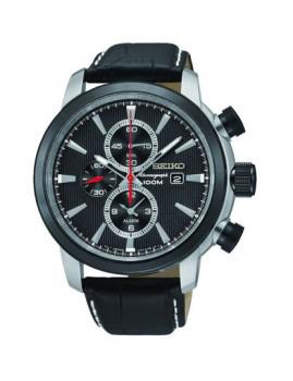 Relógio Seiko Classic Alarm Chronograph Preto