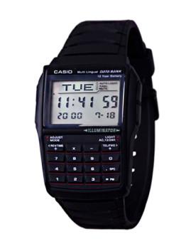 Relógio Cásio Databank Retangular Preto
