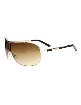 Guess Óculos De Sol Pretos E Dourados