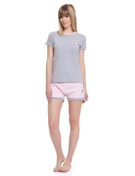 Pijama de Senhora Lancetti Cinzento Mesclado