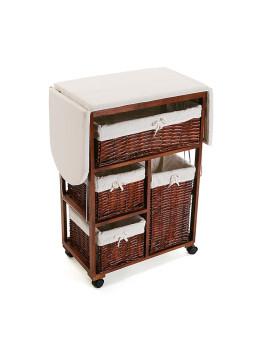 Móvel Arrumação de Cozinha c/ cestas Castanho