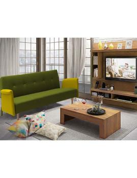 imagem de Sofá-Cama Sunset em tecido Verde/Amarelo1
