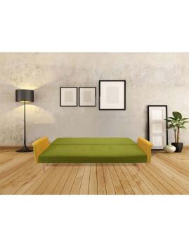 imagem de Sofá-Cama Sunset em tecido Verde/Amarelo2
