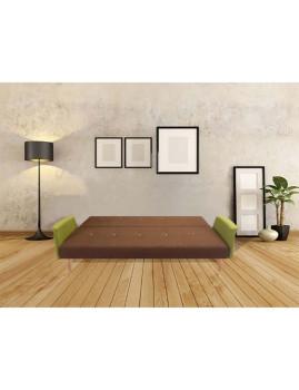 imagem de Sofá-Cama Sunset em tecido Castanho/Verde2