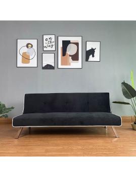 imagem de Sofa-Cama Iris em Veludo Preto1