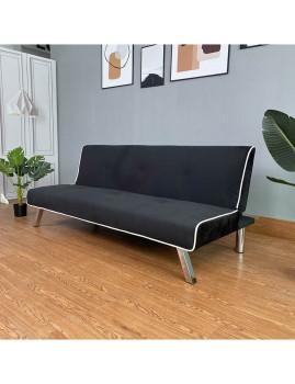 imagem de Sofa-Cama Iris em Veludo Preto2