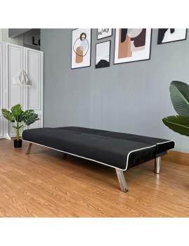 imagem de Sofa-Cama Iris em Veludo Preto4