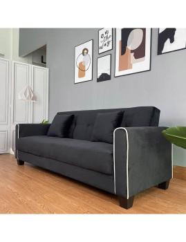 imagem de Sofá-Cama Relax Tecido Preto2