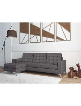 imagem de Sofá Hilton Com Chaise-Longue Cinza1