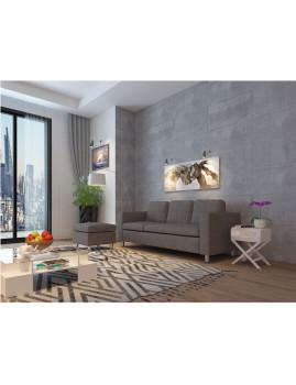 imagem de Sofá Hilton Com Chaise-Longue Cinza2
