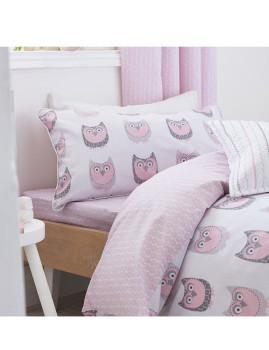 Conjunto Capa Edredon e Almofada Owl Cotton Print