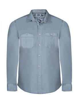 Camisa Giorgio di Mare Azul Petróleo