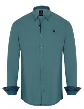 Camisa Giorgio di Mare Verde Água