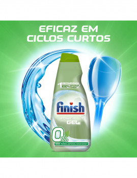 imagem de Finish Detergente Máquina Loiça Gel 0% 60 Doses4