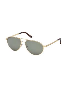 Óculos de Sol Montblanc Homem Dourado e Verde