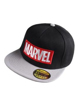 Boné Marvel Adulto Logo Preto e Cinza