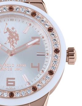 907bdc8619f Relógio Us Polo Asnn Rosa Dourado Senhora