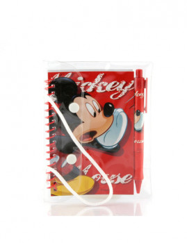 Conjunto Bolsa+Bloco+Caneta Mickey