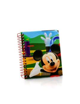 Mini bloco Mickey 9X11cms Vermelho