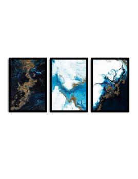 imagem de Pack 3 Quadros Abstract Azul2