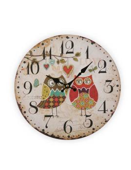 Relógio De Parede Corujas