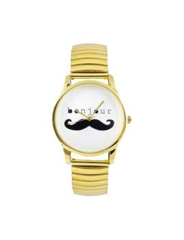 Relógio Bigode Dourado