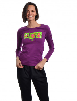Longsleeve Regular Fit Funny Throttleman Roxo