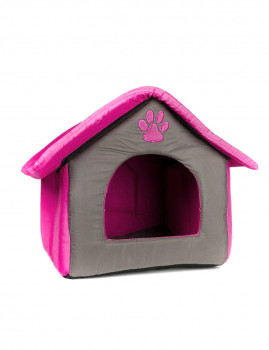 Casa Em Tecido para Animais Cor de Rosa