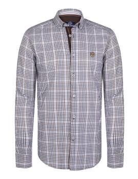 Camisa Paul Parker Branco e Castanho