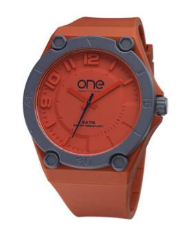 Relógio One Colors Stain Laranja
