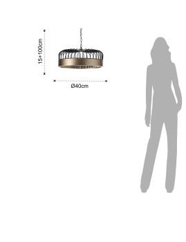 imagem de Candeeiro Suspensão Dome9