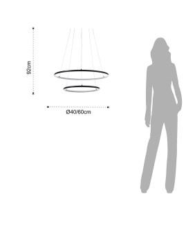 imagem de Candeeiro de Suspensão Two Rings3