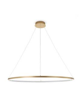 imagem de Candeeiro de Suspensão Oval Ring Dourado3