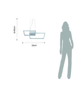 imagem de Candeeiro Quadrangular Branco 6