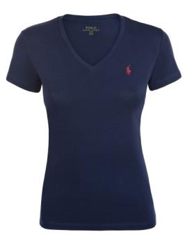 T-Shirt Ralph Lauren De Senhora Azul Navy