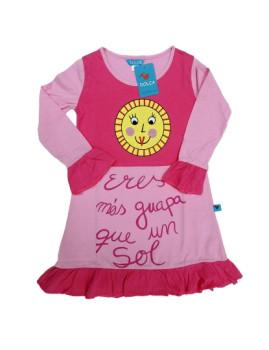 Vestido De Menina Sunshine Rosa
