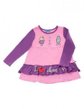 Vestido De Menina I Love Fashion Lilás