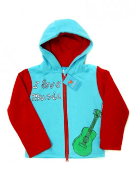 Camisola De Menino I Love Music Azul Celeste