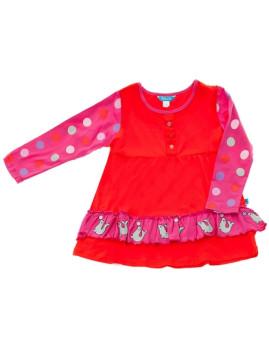 Vestido De Menina Focas Vermelho