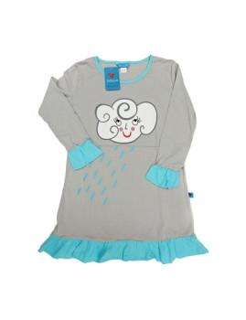 Vestido De Menina Cloud & Rain Cinzento