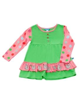 Vestido De Menina Focas Verde