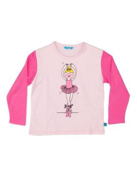 Camisola De Menina Bailarina Rosa
