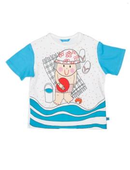 T-Shirt De Menino Chico Playa Branco