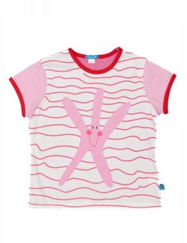 T-Shirt De Menina Estrella Rosa