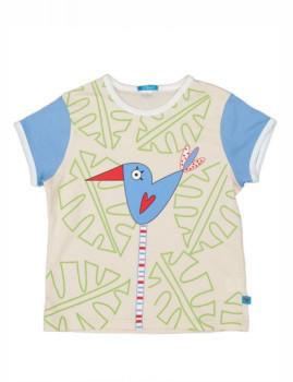 T-Shirt De Unisexo Pajarito Beige