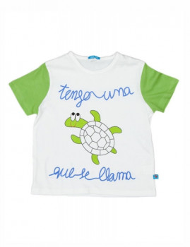 T-Shirt De Menino Tortuga Branco