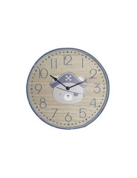 Relógio Parede MDF 31X4X31 31 Ursinho