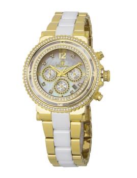 Relógio Burgmeister Kardamena Dourado e Branco