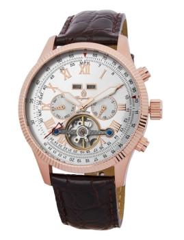 Relógio Burgmeister Malabo Dourado Rosa, Castanho e Prateado